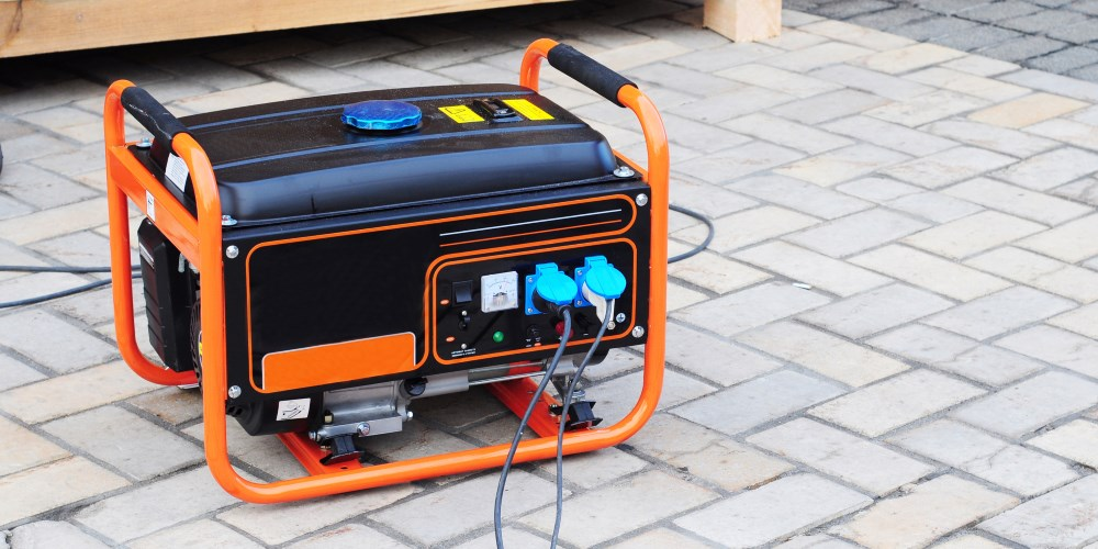 portable generator orange black